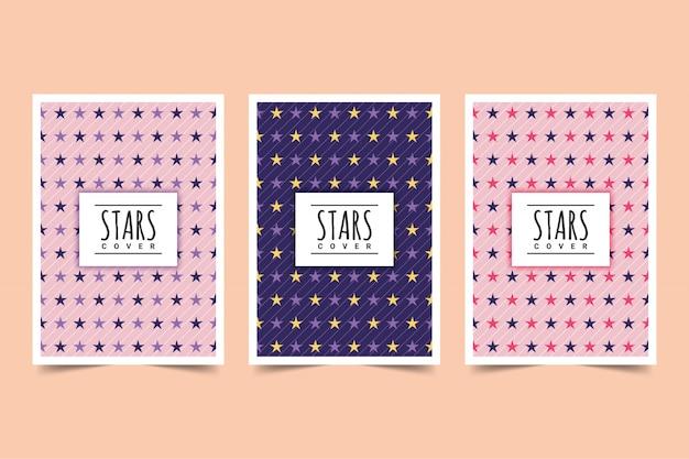 Conception De La Couverture Des étoiles Vecteur Premium