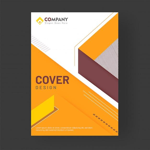 Conception de couverture publicitaire Vecteur Premium