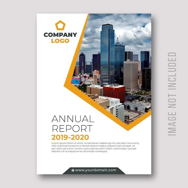 Conception de la couverture des rapports annuels d'entreprise Vecteur Premium