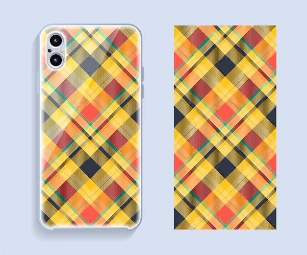 Conception De Couverture De Téléphone Portable. Modèle De Boîtier De Smartphone. Vecteur Premium