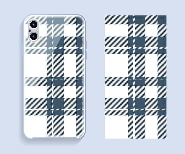 Conception De Couverture De Téléphone Portable. Modèle De Modèle De Cas De Smartphone. Vecteur Premium