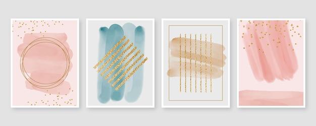 Conception De Couvertures De Formes Aquarelles Abstraites Vecteur gratuit