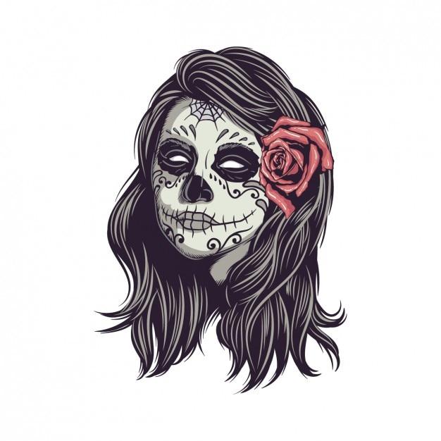 Conception de crâne mexicain Vecteur gratuit