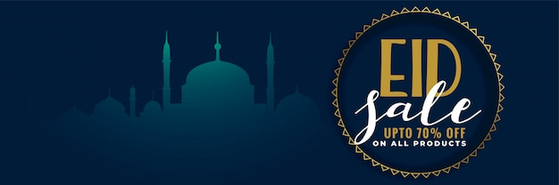 Conception créative de bannière de vente festival eid Vecteur gratuit