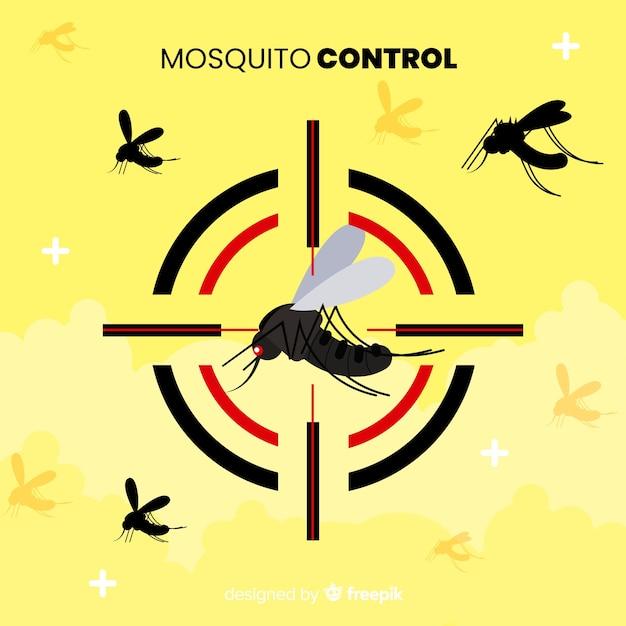 Conception Créative De Contrôle Des Moustiques Vecteur gratuit