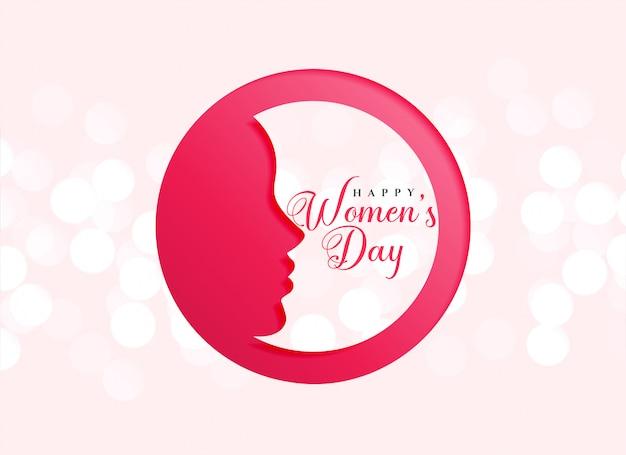 Conception créative de la fête des femmes heureuse Vecteur gratuit