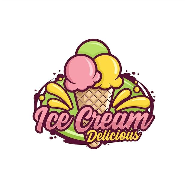 Conception De Crème Glacée Premium Vecteur Premium