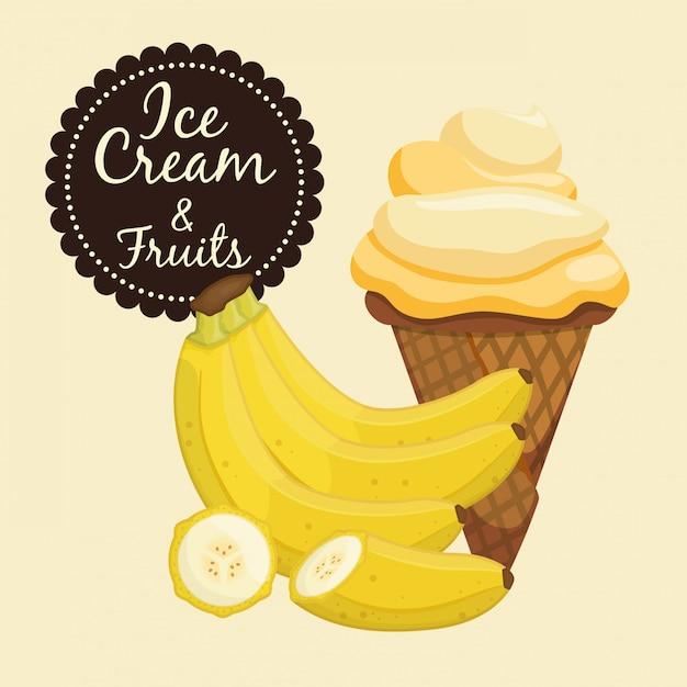 Conception de la crème glacée Vecteur Premium