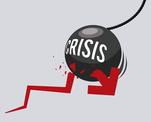 Conception de crise financière Vecteur Premium