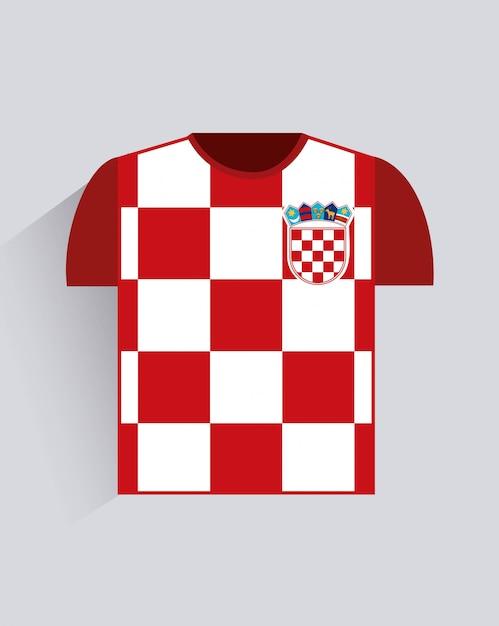 Conception de la croatie sur l'illustration vectorielle fond gris Vecteur Premium