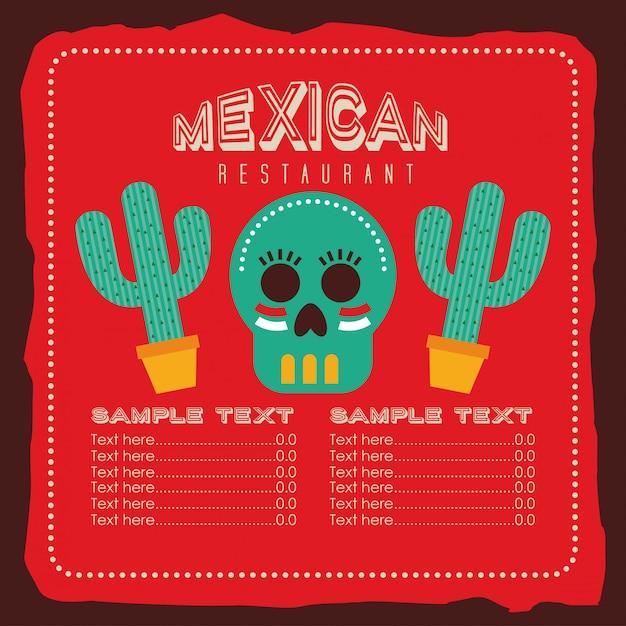 Conception de la cuisine mexicaine Vecteur Premium