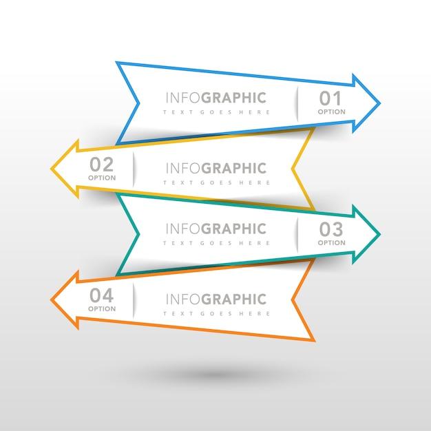 Conception d'infographie avec des flèches Vecteur gratuit