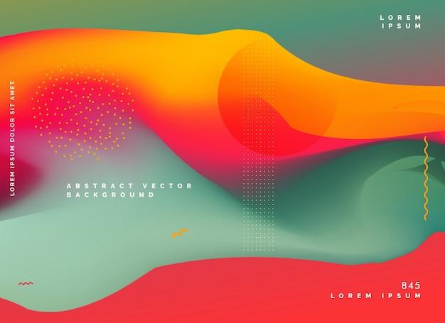 conception de dégradé de fond coloré abstrait Vecteur gratuit