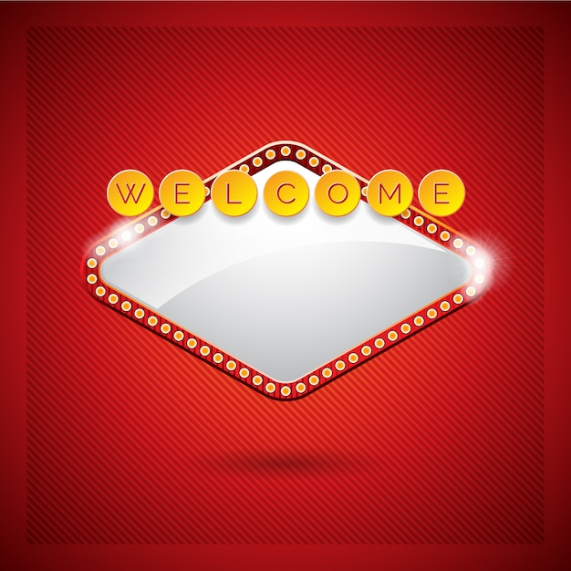 Conception de fond bienvenue Vecteur gratuit