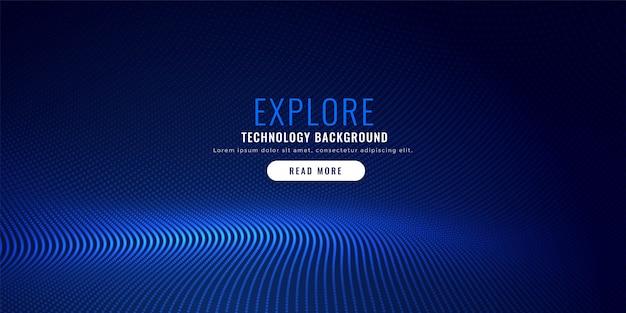 conception de fond de maille de particules bleues Vecteur gratuit