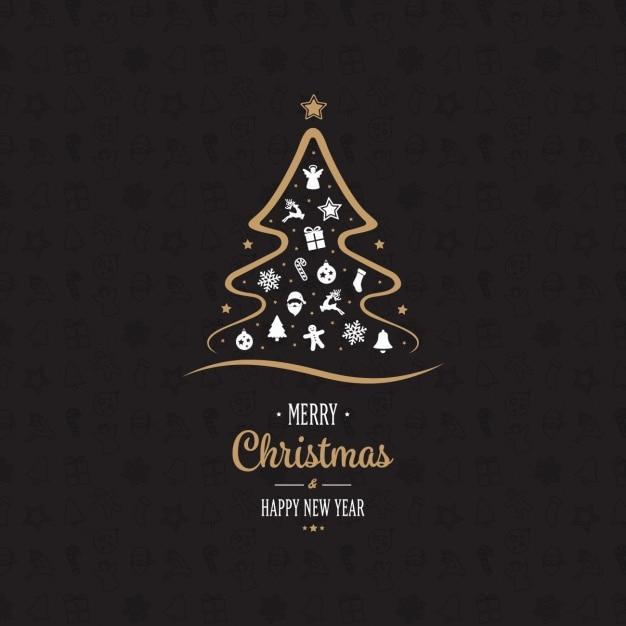 conception de fond de Noël Vecteur gratuit