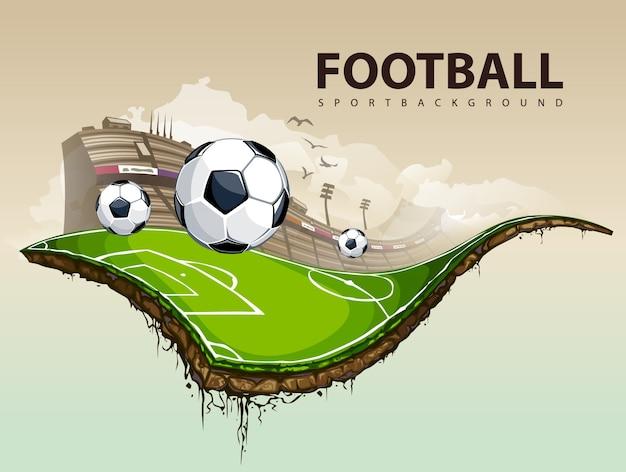 conception de football créatif Vecteur gratuit