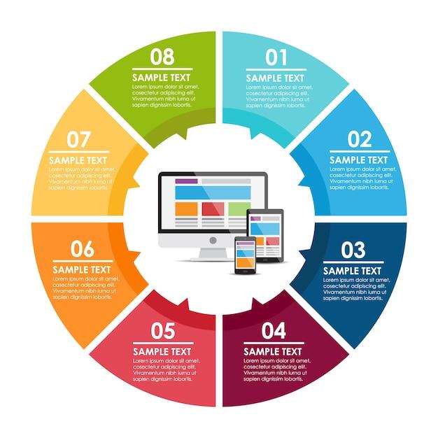 conception de modèle Infographic Vecteur gratuit
