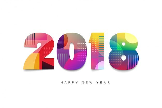 Conception de texte de bonne ann e 2018 mod le de conception de carte de voeux 2018 - Motif carte de voeux ...