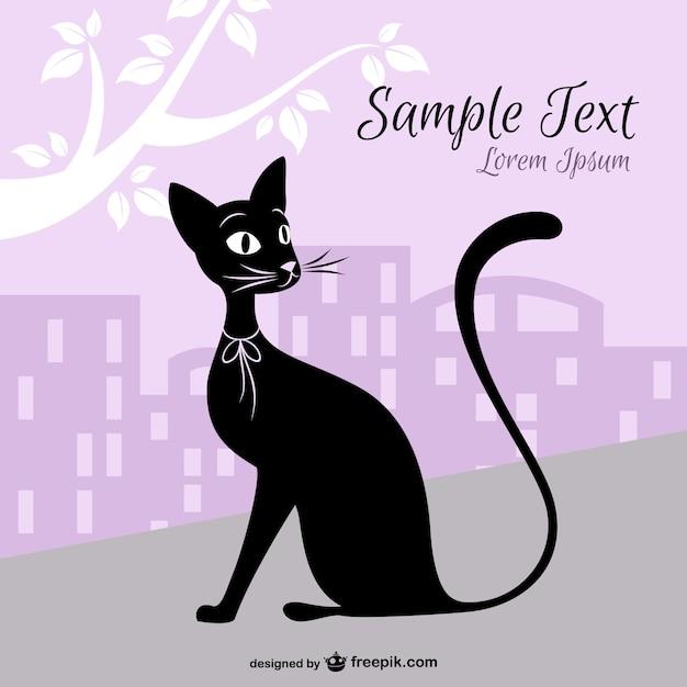 Conception de vecteur de ville de chat t l charger des vecteurs gratuitement - Telecharger image de chat gratuit ...