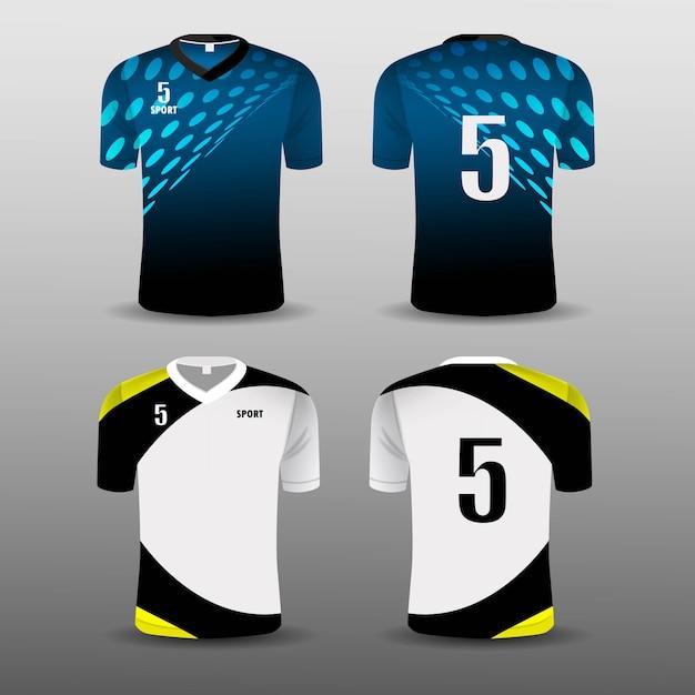 Conception de décors sport club de football. Vecteur Premium