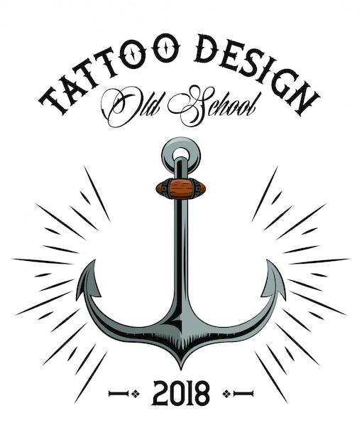 Ancre Marine Dessin conception de dessin ancre marine tatouage old school | télécharger