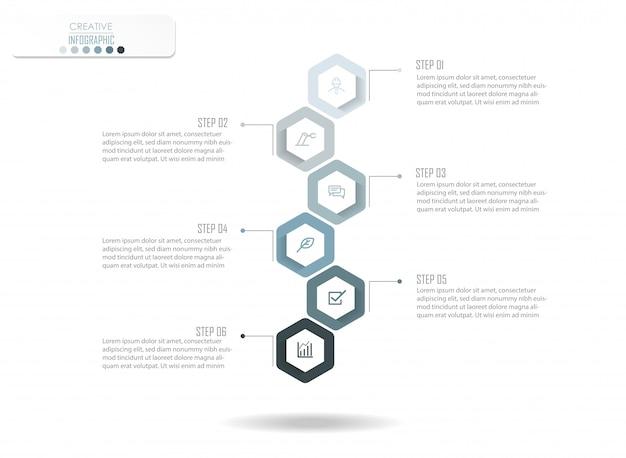 Conception de diagramme infographique Vecteur Premium