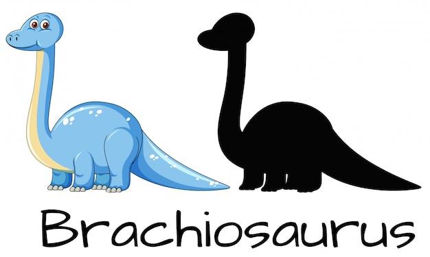Conception différente du dinosaure brachiosaure Vecteur gratuit