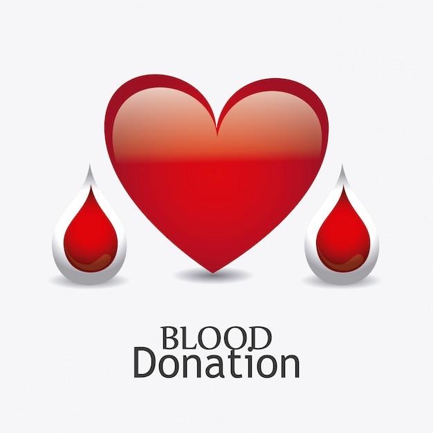 Conception de don de sang. Vecteur Premium