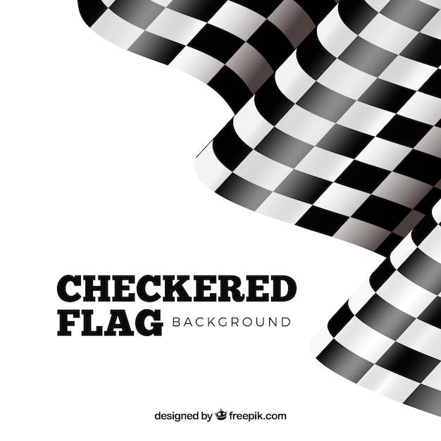 Conception de drapeau à damier Vecteur gratuit