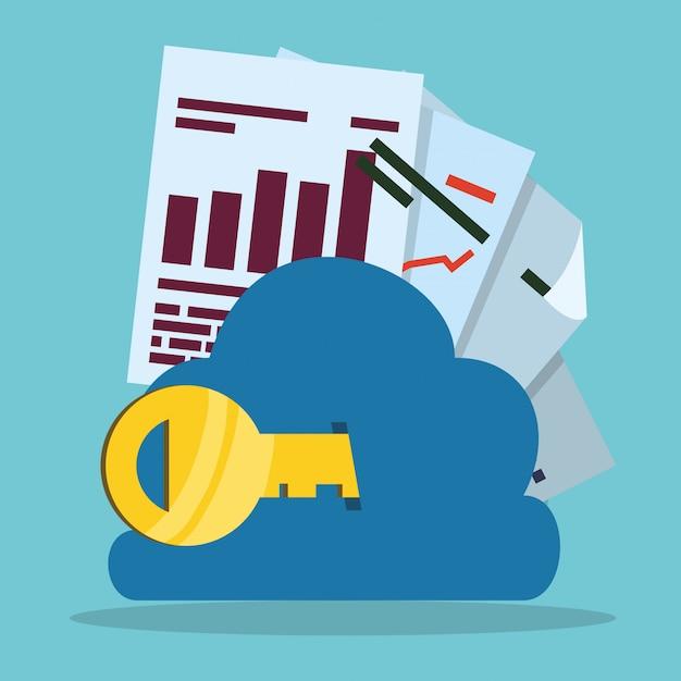 Conception du cloud computing Vecteur Premium