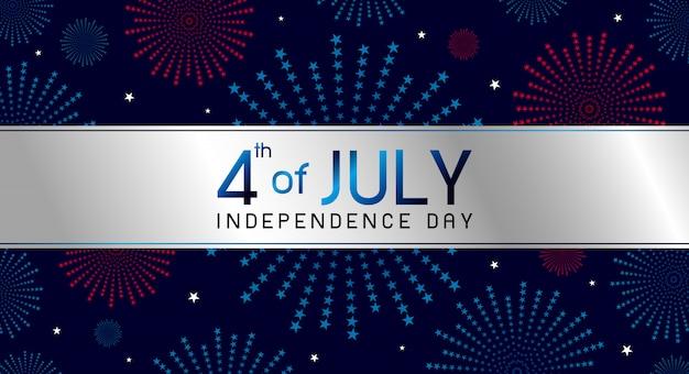 Conception Du Jour De L'indépendance Du 4 Juillet Vecteur Premium