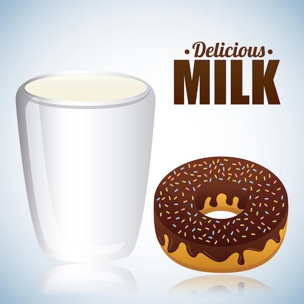 Conception du lait Vecteur gratuit