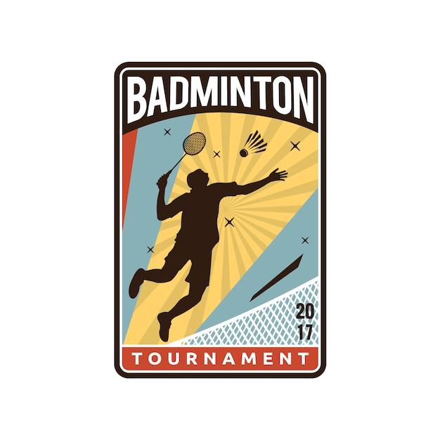 Conception du logo badminton Vecteur Premium