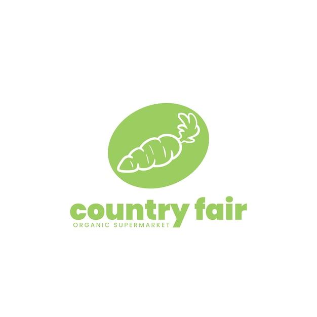 Conception Du Logo Du Supermarché Vecteur gratuit