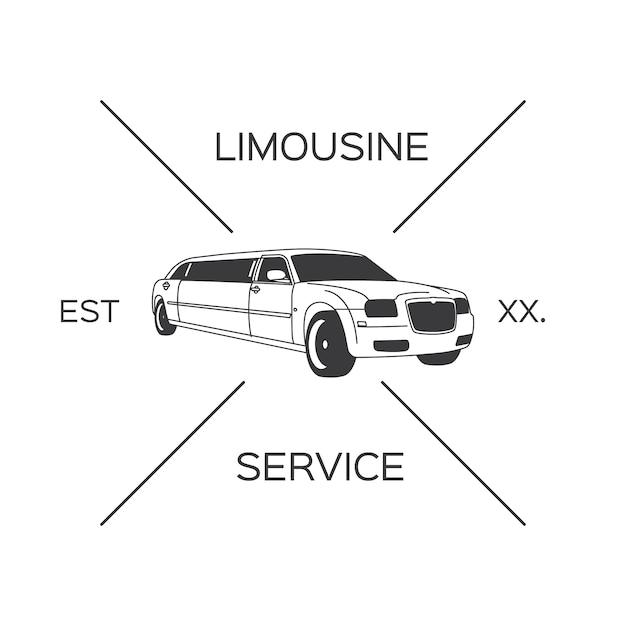 Conception du logo limousine Vecteur gratuit
