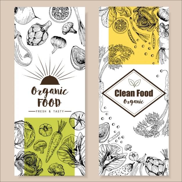 conception du menu des restaurants Vecteur gratuit