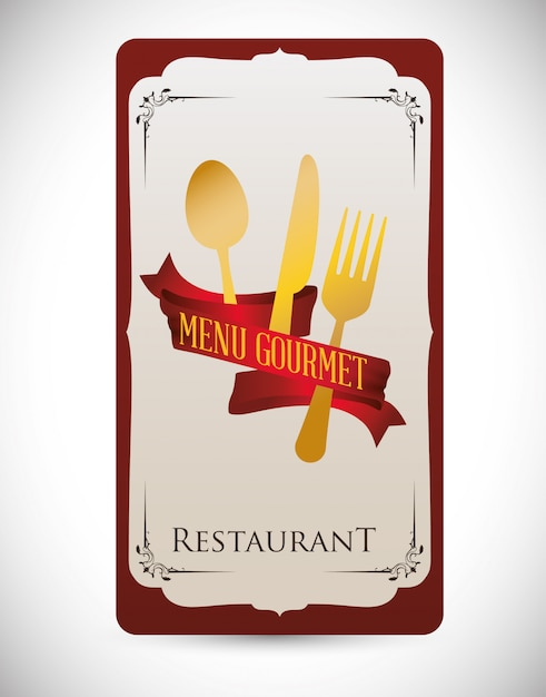 Conception du menu Vecteur Premium