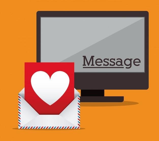 Conception Du Message Vecteur Premium
