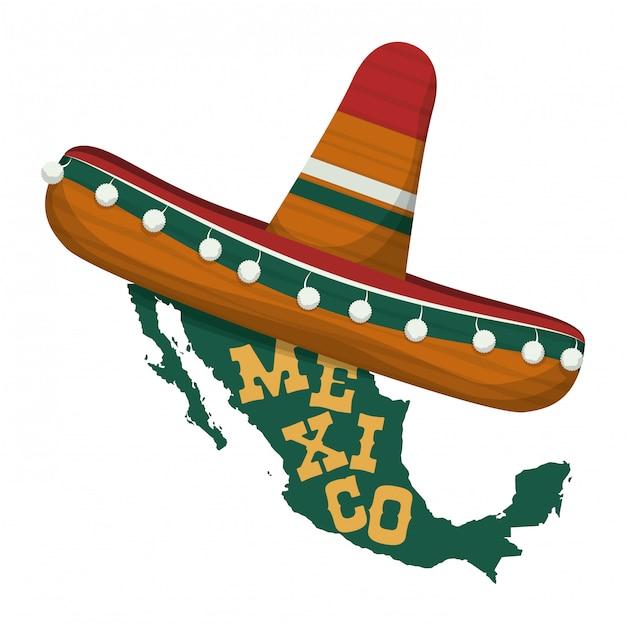 Conception du mexique. Vecteur Premium