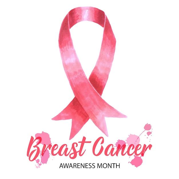 Conception du mois de sensibilisation au cancer du sein Vecteur gratuit