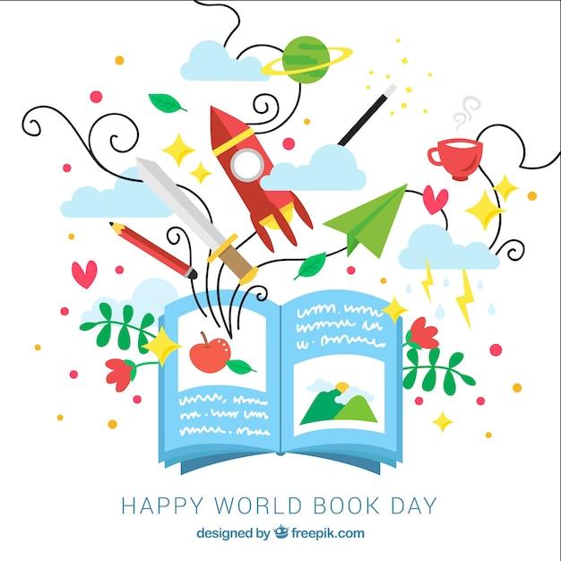 La conception du monde de la journée du livre Vecteur gratuit