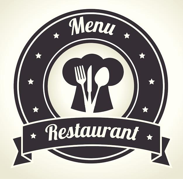 Conception du restaurant. Vecteur Premium