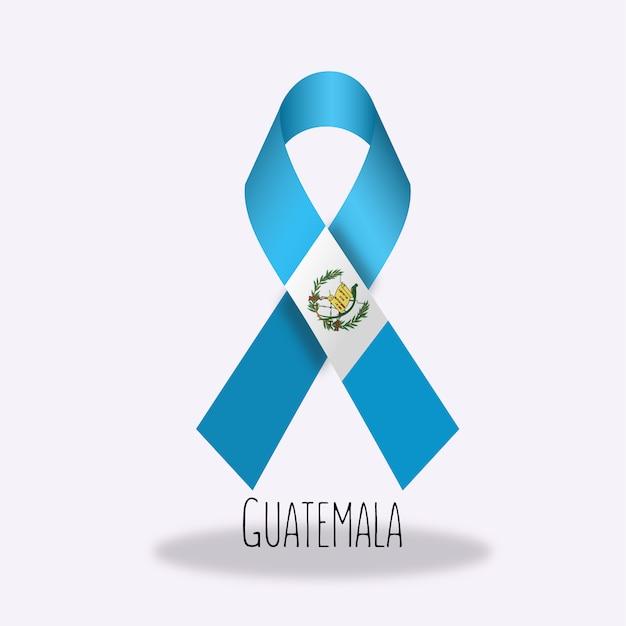 Conception du ruban du drapeau du guatemala Vecteur gratuit