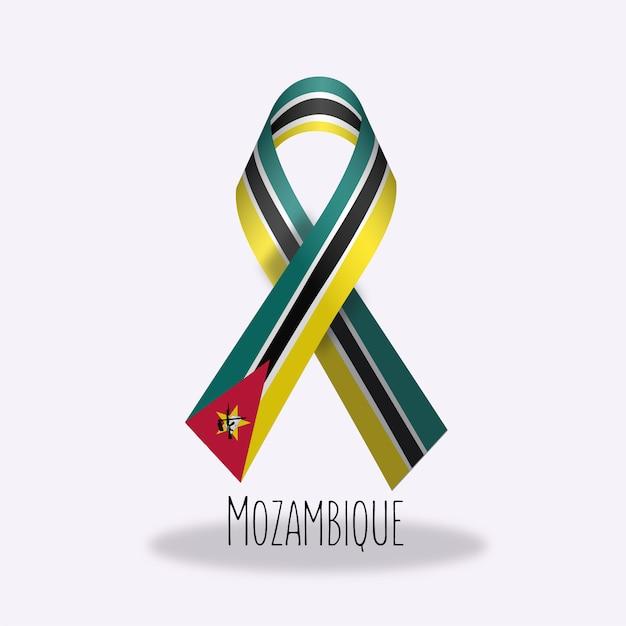 Conception Du Ruban Du Drapeau Du Mozambique Vecteur gratuit