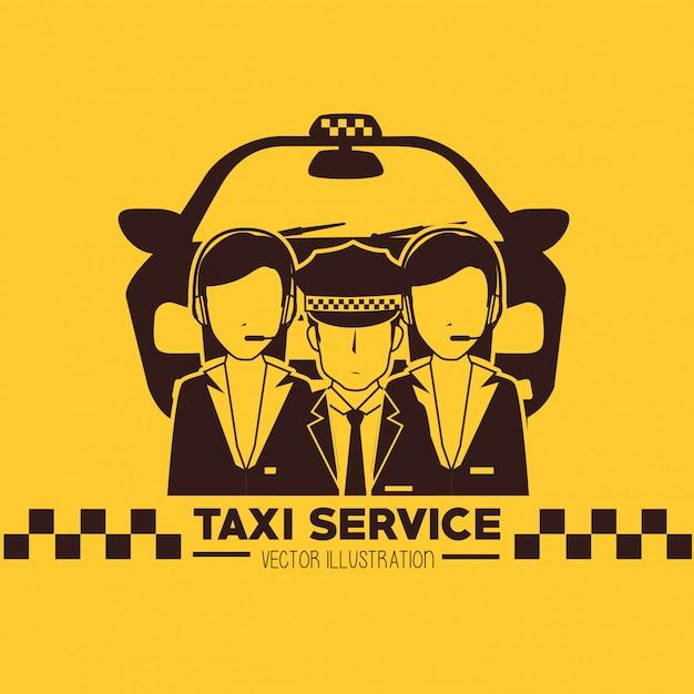 Conception du service de taxi Vecteur Premium