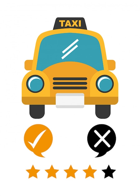 Conception du service de taxi Vecteur gratuit