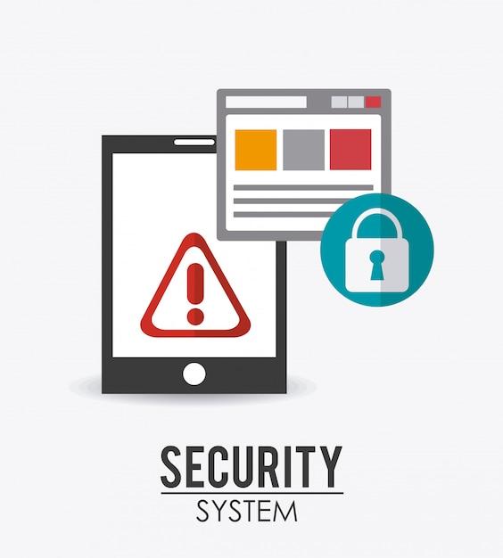 Conception du système de sécurité. Vecteur Premium