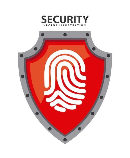 Conception du système de sécurité Vecteur Premium