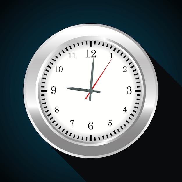 Conception du temps Vecteur Premium